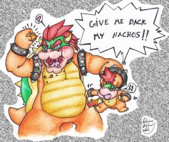 Bowser-Eats-Nachos by SuperCaterina