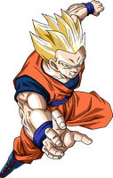 SSJ Gohan Survival Arc by BrusselTheSaiyan