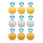 Set of Gold, Silver and Bronze Medals by siminitzki