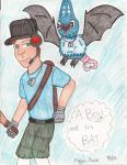 BLU Scout and Swoobat by SilentDragon64
