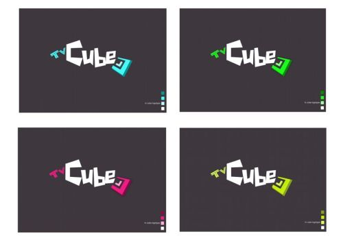 Tv Cube logotypes by tbubicans