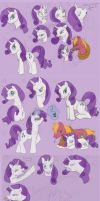 MLP FiM Rarity Doodles by lonesome-wolf-child