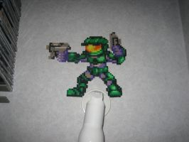 Master Chief Bead Sprite by Zakkyy