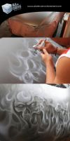 Airbrush on a car by aladecuervo