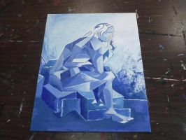 Abstract Progression 3: Painting 1st layer by BrightObject
