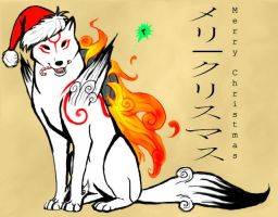 Okami christmas by MysticGaia