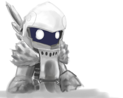 Paint Tool SAI Test - My Knight by GalaxyInvader