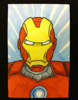Sketch Card: Iron Man by KnoppGraphics