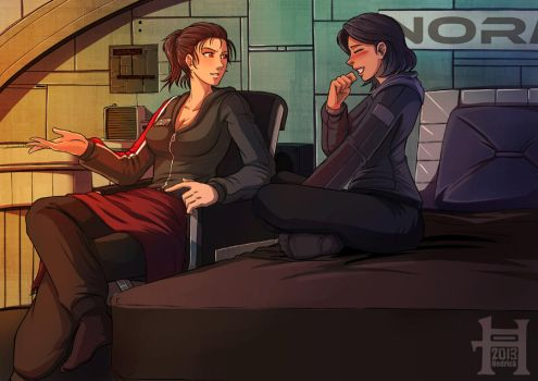 Commission - Rehulk - Shepard and Traynor by Hedrick-CS