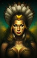 Native American Woman - Sin City Hold'Em by cgaddictworld