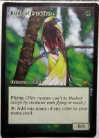 Magic Card Alteration: Birds of Paradise 12-12 by Ondal-the-Fool