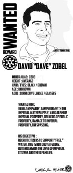 Dave Wanted poster. by addiRockART
