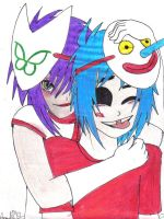 Noodle and 2D by AniiTaRuiz
