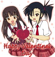 Konoka Setsuna Valentines by NativeOtaku
