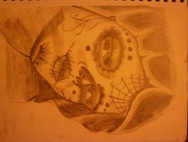 Sugar Skull chick person by Jarvis-art