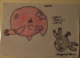 Munna and magnemite by nuttbag93