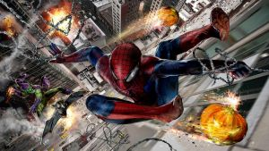 Spidey vs the Green Goblin by uncannyknack