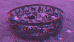 Anaglyph 3D Fire Pit by mightyquarfoth