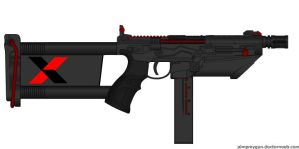 The UA: X (Just X) Machine Pistol by OUTMACED121