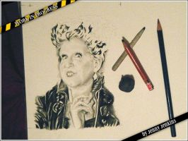Winifred Sanderson (Hocus Pocus) - WIP 2 by thewholehorizon