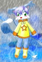 Hoshi in the Rain by jamesfoxbr