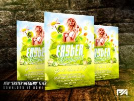 Easter Weekend Flyer Template by pawlowskiart