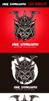 Ink Samurai Logo Template by odindesign