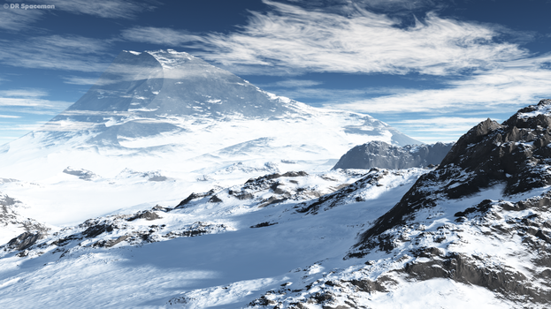 Vue Snowy Mountains scene by DRSpaceman