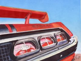 1970 Mercury Cyclone Spoiler by FastLaneIllustration