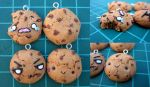 Chocolate Chip Cookies- Polymer clay by CrazyStalkerLady