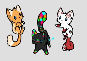 Themed cat adopts (CLOSED) by clownbard