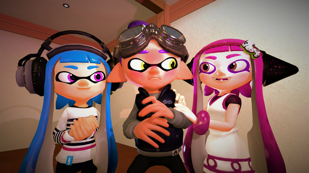 I'm not cute...Am I? (Splatoon Gmod Poster) by Johnny-Inkling