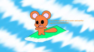 Efil the cowardly surf squirrel by efilvega