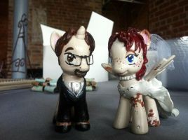 My My Little Pony Wedding Cake Toppers by Goldbryn