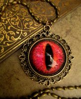Of Ghostly Flame - Dream Series Dragon Eye by LadyPirotessa