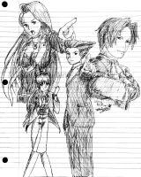 (GIFT) Ace Attorney Anime inspired fan art by Fario-P