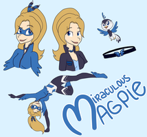 Bonjour Mademoiselle Magpie! by Maddymoiselle