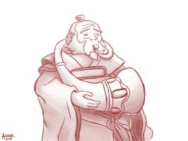 Uncle Iroh Playing by akllozz