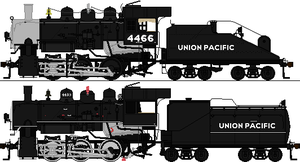 Union Pacific S8 4466 and 4439 by omega-steam