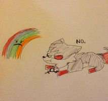 Dracion hates rainbows. by Kozakuri