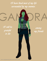 Gamora , Daugther of Thanos by DemianDillers