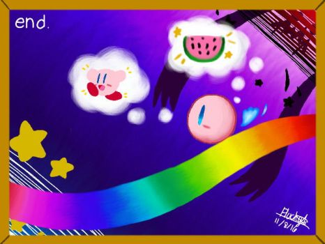 Kirby - Artful thought by Plucky-Nova