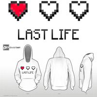 Last Life 8Bit Hoodie Contest Entry by lorenjr