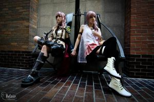 Lightning and Serah by xwickedgames