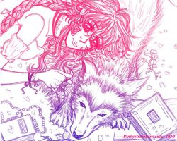 Princess and her wolf edited by pinkystrawberricutie