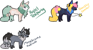 Sparkle Dogs Adopts! --- CLOSED by squidip