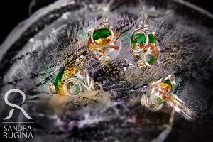 Silver and Murano glass by Behindmyblueeyes