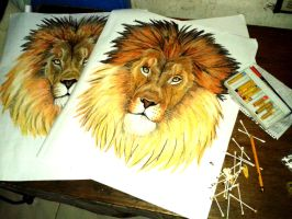 LION HEADS by huxne123