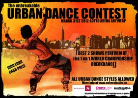 Urban Dance Contest flyer by Faecon