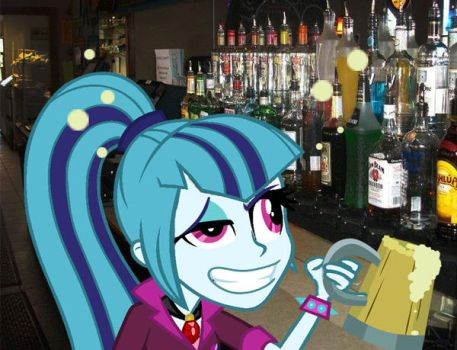Sonata Dusk at the bar by 1ZeroTwo64